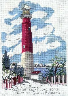 The Barnegat Lighthouse cross stitch