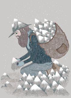 Mountain man print.