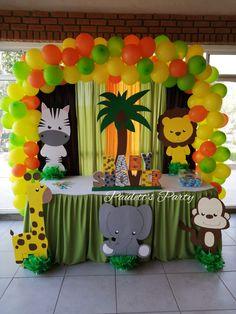 Lion Birthday Party, Safari Birthday Cakes, Boys First Birthday Party Ideas, Jungle Theme Birthday, First Birthday Party Decorations, Safari Party, 1st Boy Birthday, Baby Shower Decorations, Safari Decorations