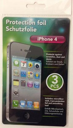 iPhone 4/4S Screenprotector (3 stuks) Iphone 4, Apple Ipad, Smartphone, Madness