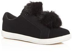 f0d0c1c167abee Sam Edelman Girls  Cynthia Leya Faux Fur Pom-Pom Slip-On Sneakers -  Toddler