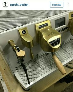 Coffee Products for Free if you Know How Coffee Machine Design, Espresso Coffee Machine, Coffee Maker, Coffee Lab, Coffee Time, Mobile Cafe, Coffee Accessories, Cafe Interior, Steampunk