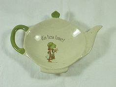 Vintage Holly Hobbie TEA Bag HOLDER Teapot by LavenderGardenCottage etsy