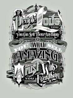 Postales tipográficas realizadas por Like Minded Studio  / Sydney