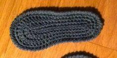 Semelle de chaussons au crochet