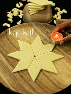 kaju katli, kaju barfi, kaju burfi recipe with step by step photo/video recipe. kaju katli sweet is prepared during festivals like diwali and raksha bandhan
