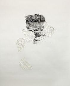 Nikki Rosato - Altered Memory - 62″X48″ - Lápiz, papel cortado - (2011)