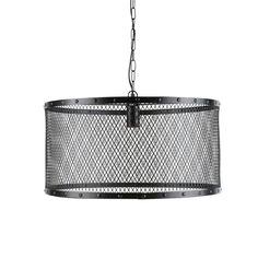 Maison du monde Ambiance industrielle Suspension indus en métal grillagé noire D 55 cm LOUIS Dimensions (cm) : H 28 x L 55 x PR 55 79,99 €