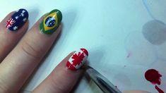 Canadian Flag Nail Art Tutorial