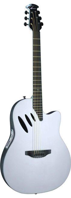 White Ovation Guitar.