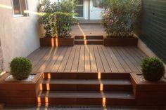 Terrasse en bois exotique sur 3 niveaux à Dardilly (Rhône)