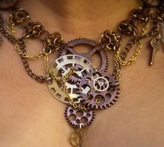 Steampunk Necklace by Sweetest Temptations Creations
