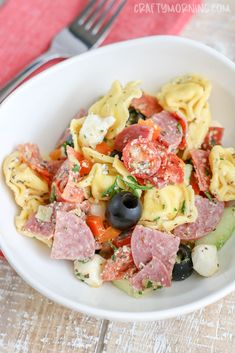 Make this delicious tortellini pasta salad this summer!  Credits: Crafty Morning