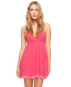 cute summery casual bridesmaid dress.. good color too!