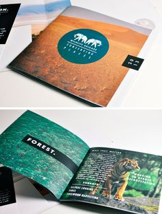 clean, minimal brochure #design liked at #rockcandymedia