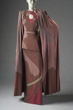Woman's Ensemble (Cape, Blouse, and Skirt)  Gilbert Adrian (United States, active California, Los Angeles, 1903-1959)  United States, California, 1945  Costumes; ensembles  Rayon plain weave (crépe), rayon satin-back crepe