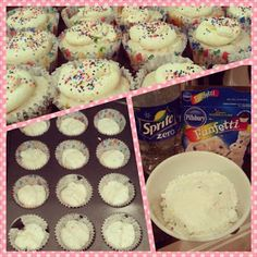 Weight watchers recipe for skinny funfetti cupcakes! 2 points plus per cupcake! This looks do-able! Sprite-Zero to replace oil and eggs. Weight Watchers Cupcakes, Weight Watcher Desserts, Plats Weight Watchers, Weight Watchers Meals, Weight Watchers Muffins, Weight Watchers Points Plus, Desserts Pauvres En Calories, Low Calorie Desserts, No Calorie Foods