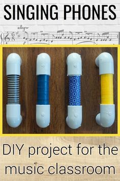 Tutorial on how to make singing phones for your elementary music classroom. Thes… Tutorial on how to make singing phones for your elementary music classroom. These tools would be great for matching pitch, diction, and dynamic control. Music Lessons For Kids, Music Lesson Plans, Singing Lessons, Music For Kids, Piano Lessons, Toddler Music, Elementary Music Lessons, Art Lessons, Singing Time