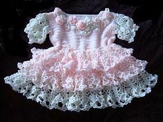 Free Crochet Pattern: Chinese Turquoise Dress Free Crochet Patriotic Baby Dress Pattern Free Crochet Baby...