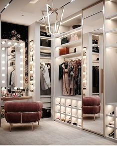 The way you decorate your home is somehow similar to choosing beautiful clothes to wear on a daily basis. An impressive interior decoration of your home or office is essential for your own state of mind, if nothing else. Luxury Bedroom Design, Bedroom Closet Design, Home Room Design, Closet Designs, Dream Home Design, Modern House Design, Bedroom Decor, Wardrobe Design, Modern Luxury Bedroom