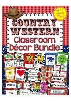 Bring the Wild West to your classroom this year with this colorful Country Western themed decor set. 300+ pages of classroom posters, including editable options.