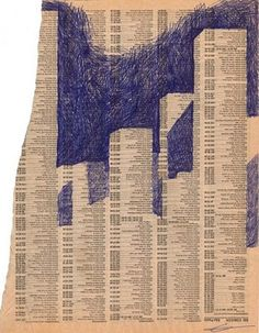 Drawings on Old Telephone Books by Gustavo Rinaldi, via Behance Bic Pens, Phone Books, Doodle Art Journals, Book Layout, Book Projects, Altered Books, Book Crafts, Art Boards, Book Art