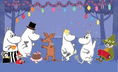 Moomin Characters by Tove Jansson - art print from King & McGaw