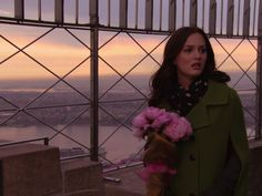 Blair finds Chucks peonies at the top of the Empire State Building
