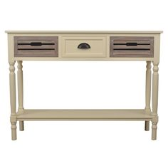 Melody 3-drawer Wood Console Table