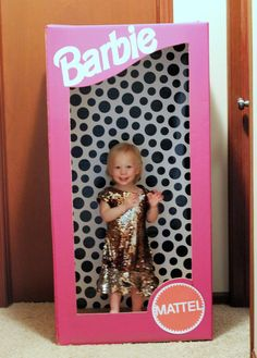 DIY Barbie box for dress up photo booth Barbie birthday party Vanilla Beans and Daydreams: My {daughter's} Barbie Birthday