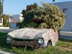Wrecked Cars as Street Art - Grecian Guerrilla Beautification (GALLERY)