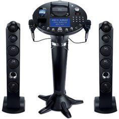 "The Singing Machine iSM1028Xa Pedestal CD+G Karaoke Player with iPod Dock and 7"" TFT LCD Color Monitor"