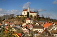 Castle Goessweinstein ~ Upper Franconia, Germany/ do a winter/ summer/ spring, fall scene G. Bavaria Germany, Berlin Germany, Beautiful Castles, Beautiful Places, Oh The Places You'll Go, Places To Visit, Pictures Of Germany, Germany Castles, Adventure Is Out There