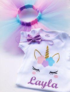 Twin First Birthday, 1st Birthday Outfits, Baby Girl Birthday, 1st Birthday Parties, Birthday Party Decorations, Unicorn Outfit, Unicorn Headband, Unicorn Themed Birthday Party, First Birthdays