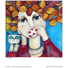 Olivia y su cafecito - Karina Chavin Espacio de Arte
