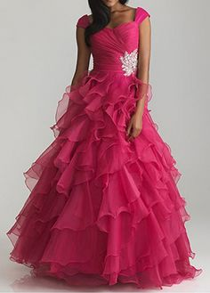 Brilliant Organza & Satin A-line Sweetheart Neckline Natural Waist Off-the-shoulder Straps Ruched Full Length Prom Dress