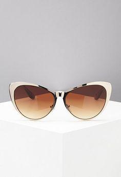 Metallic Cat Eye Sunglasses | Forever 21 - 1000052274