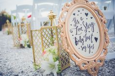 Charleston Wedding Ceremony Sign #WildDunesWeddings wilddunesweddings.com