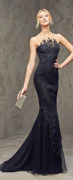03889a72e1d Marvelous Dot Tulle Bateau Neckline Mermaid Evening Dresses with Lace  Appliques Pinterest Gowns