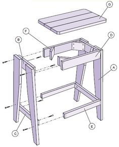 Bar Stool Woodworking Plans - Woodworking Forest