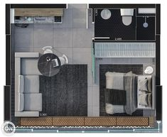 Life is on Small Apartment Plans, Studio Apartment Floor Plans, Studio Floor Plans, Hotel Floor Plan, Small Apartment Interior, Small Apartment Design, Apartment Layout, Small House Design, Home Room Design