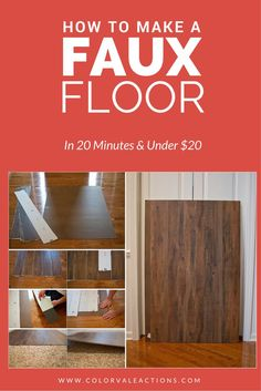 How to make a faux floor for your photography business & sessions in 20 minutes & under $20