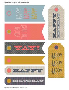 Free Printable – Happy Birthday Hangtags — Sew DIY