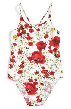 'Tulip' One-Piece Swimsuit (Toddler Girls, Little Girls & Big Girls)
