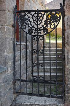 Hungarian Art Nouveau iron gate