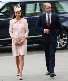 Together again: The Duke and Duchess of Cambridge stepped out together for the first time ...