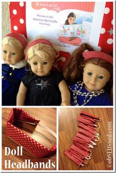 American Girl Doll Party - Make simple headbands as favors
