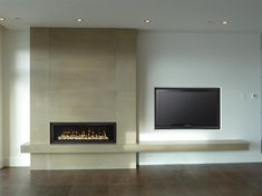 Fireplace panels and custom wide formatted concrete structures for your home. Tv Over Fireplace, Concrete Fireplace, Home Fireplace, Modern Fireplace, Fireplace Surrounds, Fireplace Ideas, Classic Living Room, New Living Room, Floating Mantel