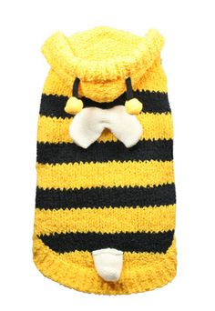Chenille Bumble Bee Dog Sweater   Buy Dog Sweaters Online