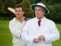 Cricket anyone? 'Midsomer Murders - Secrets and Spies' with Jason Hughes and John Nettles. Bbc Tv Shows, Bbc Tv Series, Detective Series, Mystery Series, John Nettles, Troy, Tv Detectives, Famous Detectives, Midsomer Murders